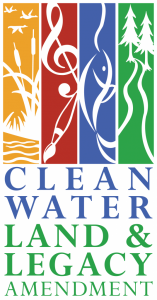 The Legacy logo with the words 'Clean Water Land & Legacy Amendment'