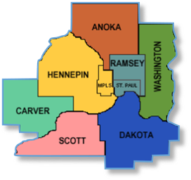7 Metropolitan counties in Minnesota